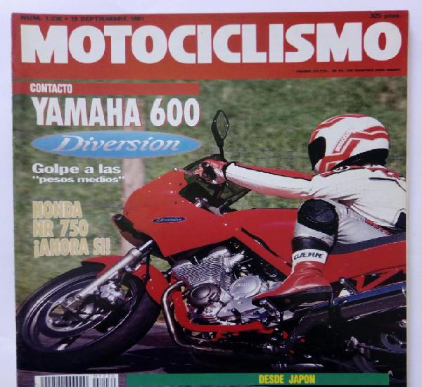 Motociclismo nº 1230 año 1991 yamaha 600 diversion, honda