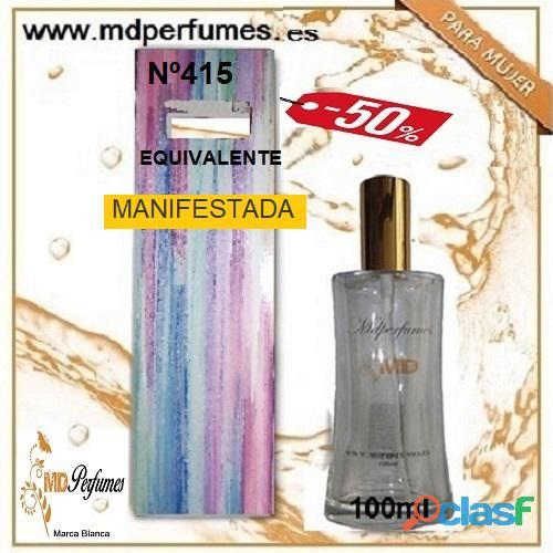 Oferta 10€ Perfume Mujer MANIFESTADA Nº415 Alta Gama Equivalente 100ml