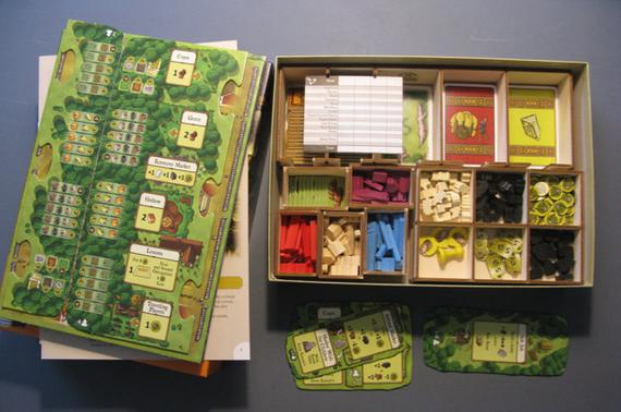 Agricola 3mm abedul ply laser cut game box organiser -