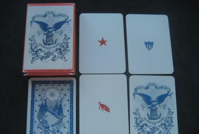 Baraja poker de la union ee.uu. siglo xix (1862)