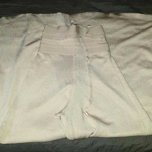 High waist bandage flared trousers