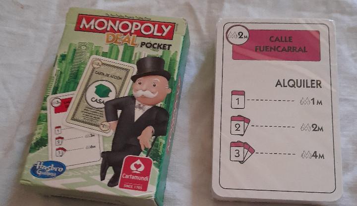 Juego cartas monopoly deal poket precintada