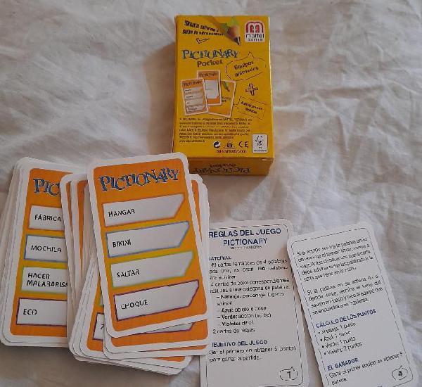 Juego cartas pictionary pocket dibuja adivina y sube la