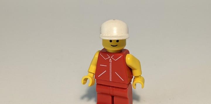 Man red jacket w/ zipper 6539 - lego classic town lego