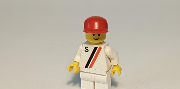 """Man white """"s"""" shirt 6539 - lego classic town lego"""