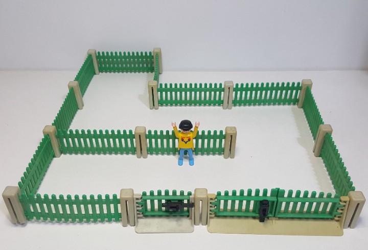 Playmobil 3504 3556 system antiguo vallado verde valla