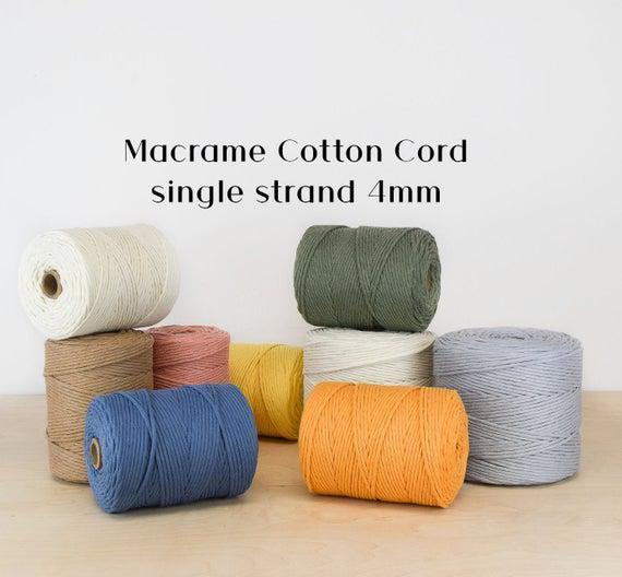 Premium soft ganxxet cotton cord - varios colores 4mm; hilo