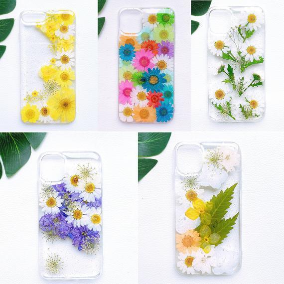 Real prensado flor caja iphone 12 pro max caja iphone 11 pro