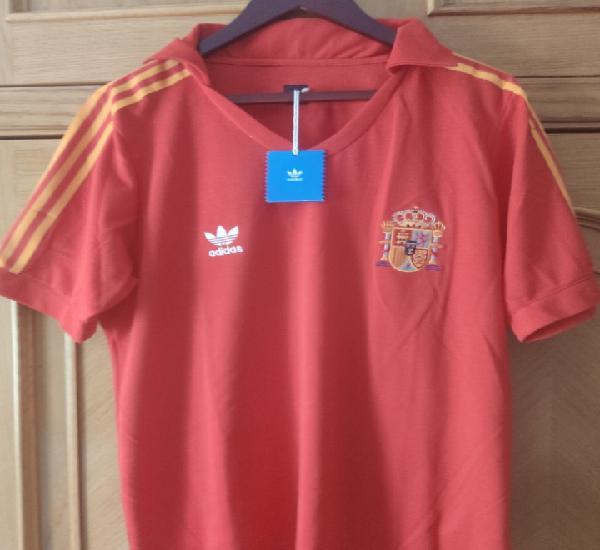 Camiseta selección española 1982 réplica oficial adidas