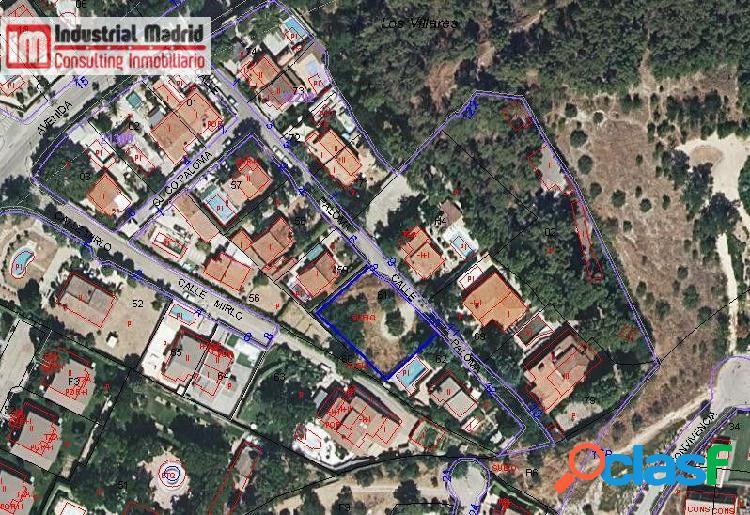 Parcela urbana de 805 m2 en venta en arganda del rey. zona los villares.