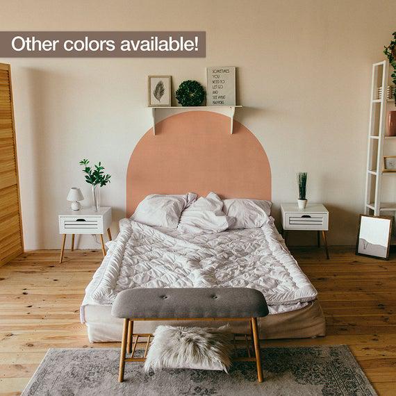 Tamaño de la cama arch sticker, color block wall sticker,