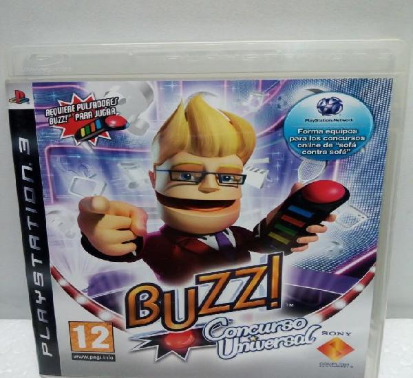 Buzz! buzz el concurso universal de sony ps3