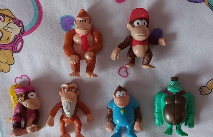 Lote figuras pvc nintendo monos donkey kong country video