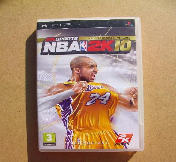Nba 2k10 juego de psp