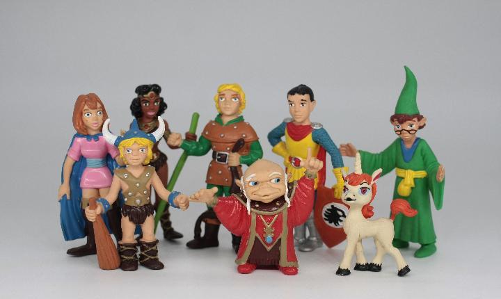 Lote 8 figuras dragones y mazmorras comics spain años 80