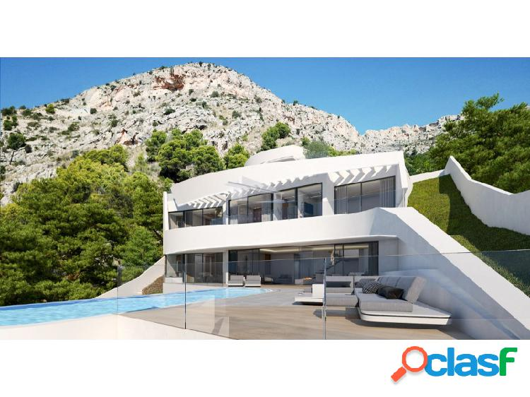 Proyecto de villa de lujo con vistas al mar en venta en altea hills, alicante