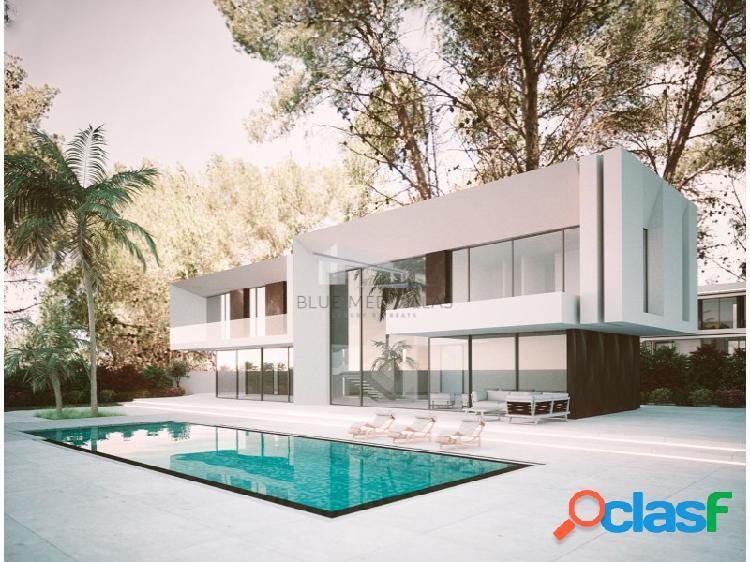 Villa de lujo en construcción en 1ª línea de playa en venta en denia