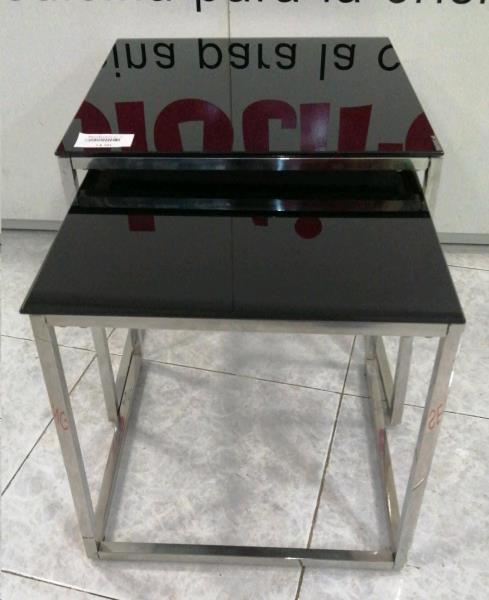 2 mesas bajas cristal negro segunda mano en nolotire vigo