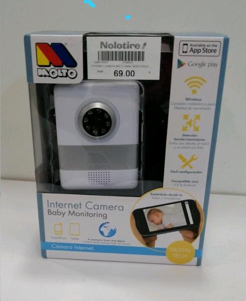 Internet camera molto baby monitoring segunda mano en