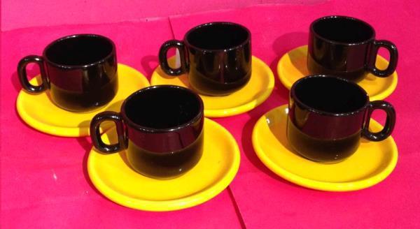 Juego cafe amarillo/negro segunda mano en nolotire santiago