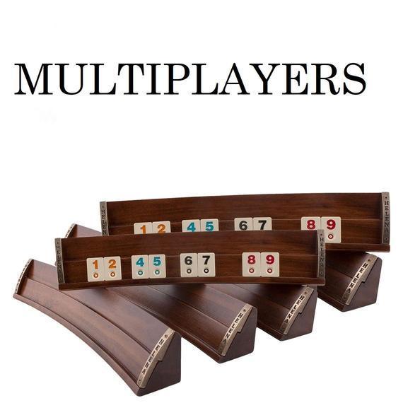 Juego de juego de mesa multijugador rummy cube - set de