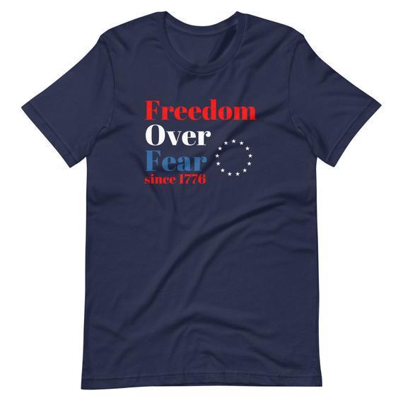 Libertad sobre el miedo / 4 de julio camiseta / conservador