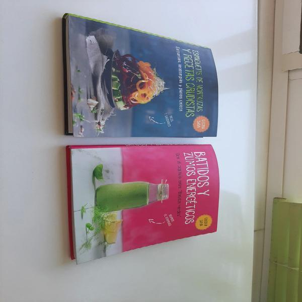 Libros de cocina sana.