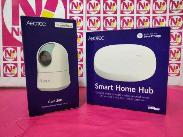 Smart home hub aeotec + camara vigilancia aeotec cam 360