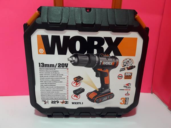 Taladro bateria worx wx371.1 completo con 2 baterias 20v 2ah