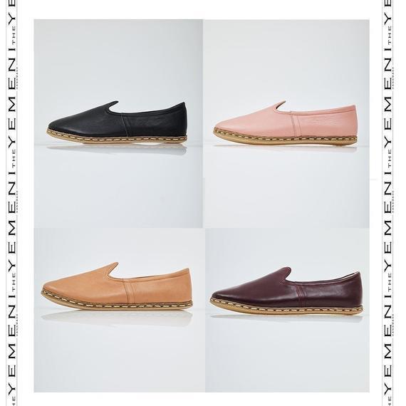 Zapatos de cuero plano para mujer, zapatos de cuero hechos a