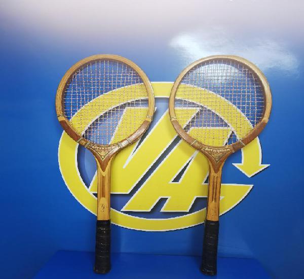 Coleccionismo par de raquetas tenis vintage sovereign madera