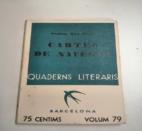Cartes de navegar. guillem diaz - plaja. 1935 barcelona.
