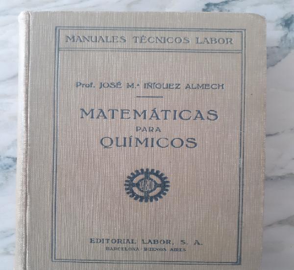 Primera edición.matemáticas para químicos.íñiguez