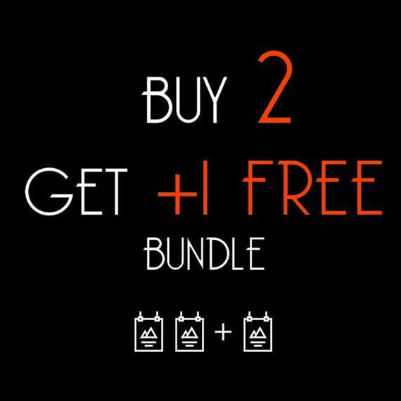 Comprar 2 obtener 1 gratis / paquete de promoción / cartel