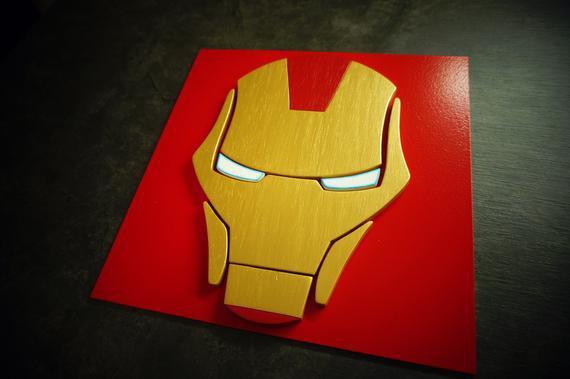 Superhéroe ironman, arte de la pared, arte de la pared del