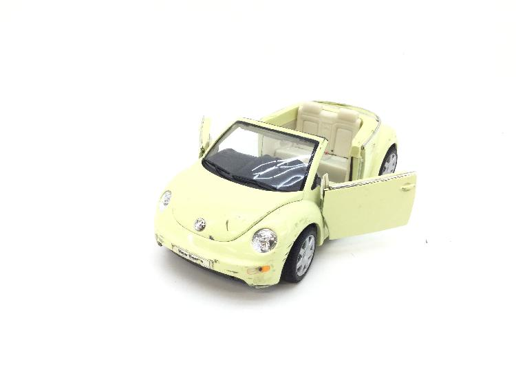 Coche metal welly 2453 new vw beetle convertible