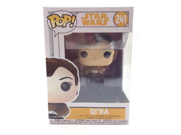 Figura accion funko star wars solo qira pop! vinyl 241