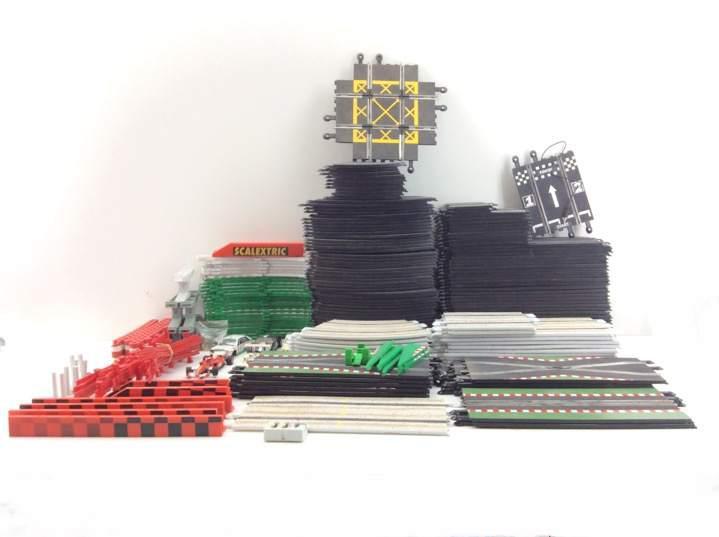 Pista slot scalextric conjunto 135 pistas accesorios y