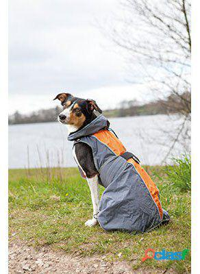 Impermeable para perros solid gris y naranja 25 cm trixie