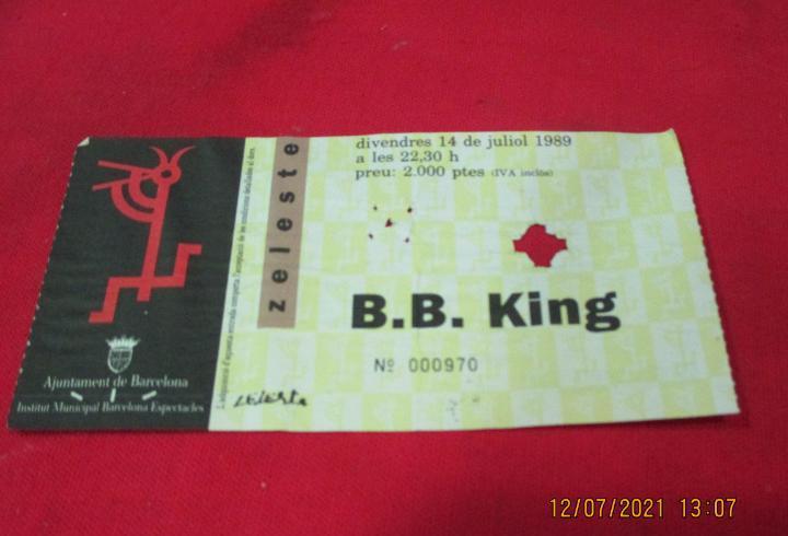 B.b.king - entrada concierto - sala zeleste - 14 de julio