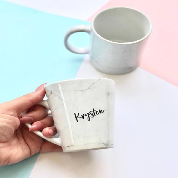 Taza personalizada, taza de mármol, taza personalizada,
