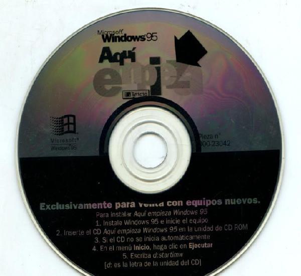 Windows 95-aquí empieza. (cd que era vendido con equipos