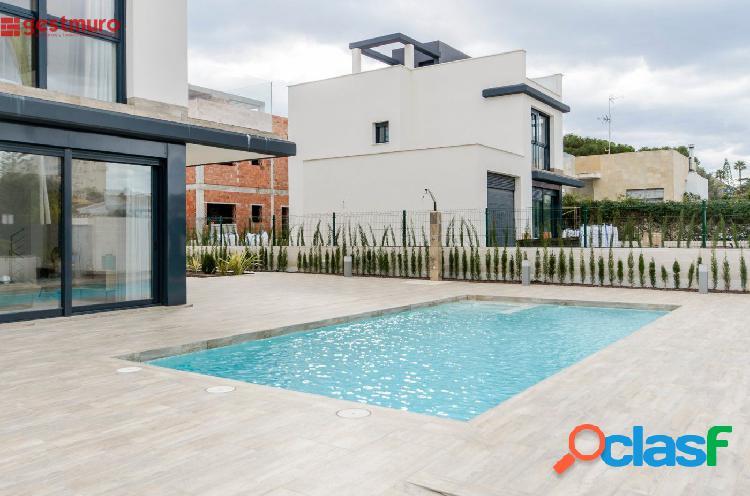 Vende chalet con piscina (obra nueva) en playa honda-sin comisiones inmobiliarias