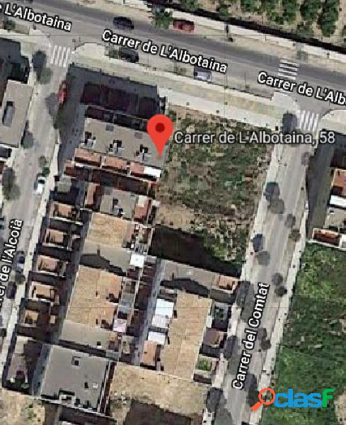 Alg244 - fincas girbés ofrece a la venta magnifica parcela en el pla de algemesí, con orientación norte y 133,00 m2 de parcela.