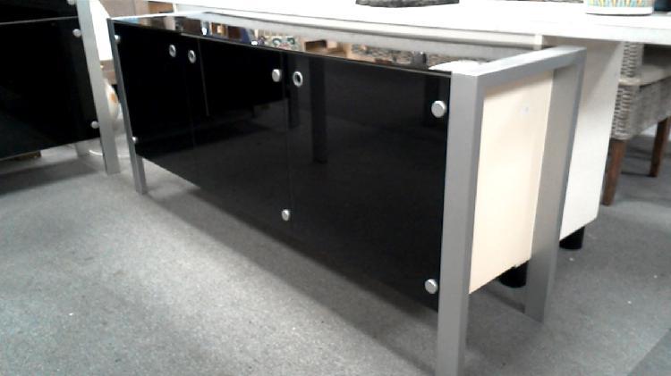 Compre la oportunidad de buffet vitre noir metal gris