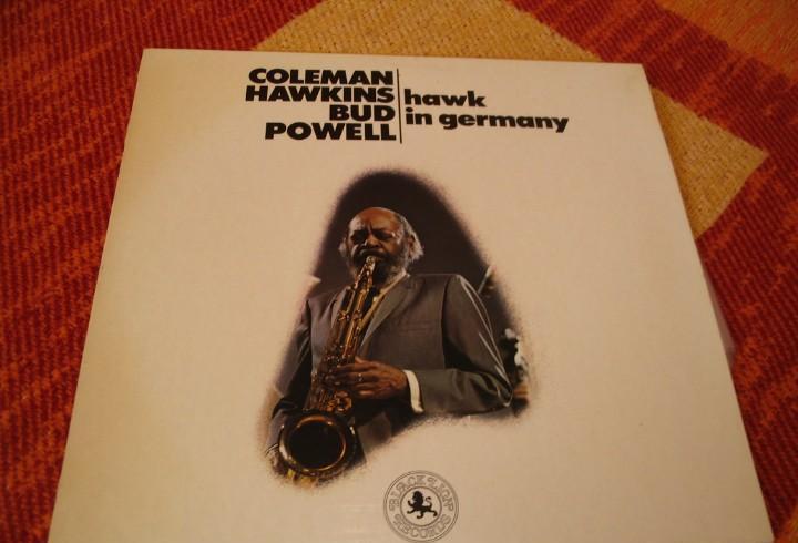 Coleman hawkins & bud powell lp hawk in germany black lion
