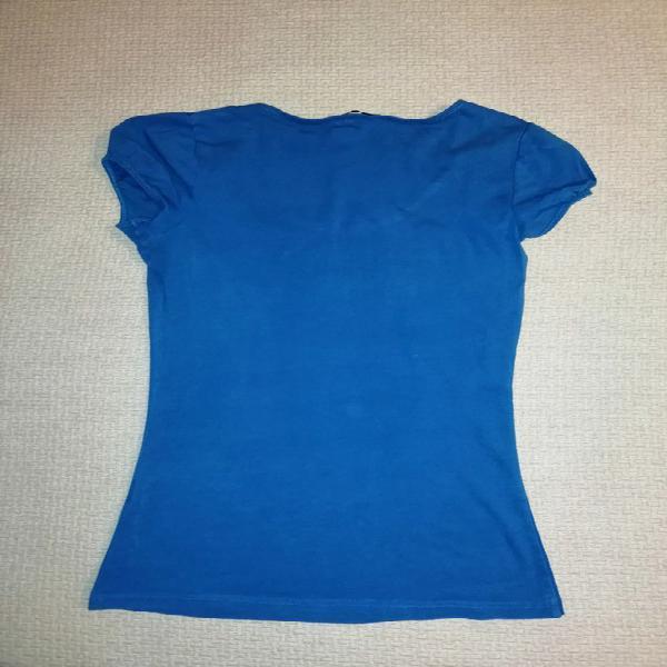 Camiseta azul h&m