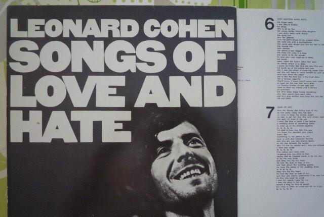 Leonard cohen - songs of love and hate (cbs, es, re 1983)
