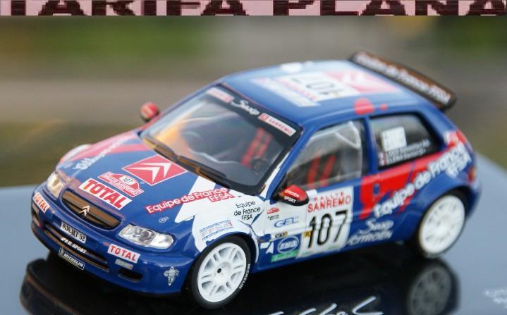Citroen saxo kit car rallye sanremo 1999 s. loeb escala 1:43