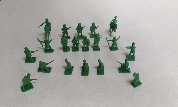 Figuras de plástico montaplex soldaditos de escocia